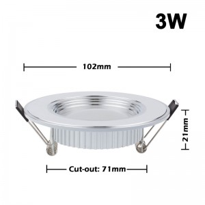 Lemonbest-Ultra Slim 3W/5W/7W/9W/12W LED White Downlight Flat Lens Recessed Ceiling Light Spotlight AC 100-245V
