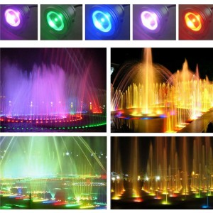 LemonBest-IP68 10W RGB LED Underwater Fountain Light Spotlight Pool Pond Fish Tank Aquarium LED Light Lamp DC 12V