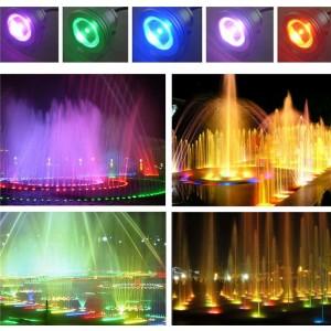 LemonBest-IP68 10W RGB LED Underwater Fountain Light Spotlight Pool Pond Fish Tank Aquarium LED Light Lamp DC 12V