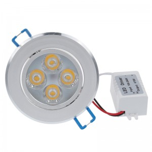 LemonBest - 12W LED Ceiling Light Recessed Spotlight Downlight Warm White  100-245V