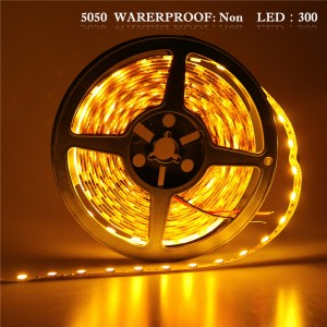 LemonBset - (Non-Waterproof) 5M/roll Warm White 300 LEDs SMD 5050 Flexible led Strip Light