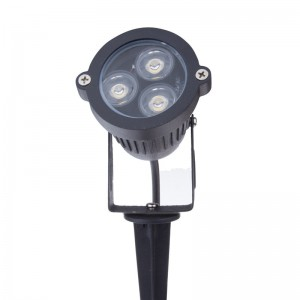 LemonBest-3*3W LED Lawn Garden Flood Light Yard Patio Path Spotlight Lamp Waterproof AC/DC 12V