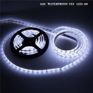 LemonBest - (Cool) 5630 5M White 300 SMD 12V LED Flexible Strip Light Waterproof