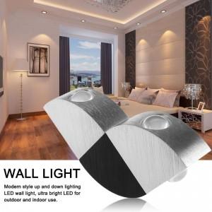 LemonBest-Modern Aluminum Hollow Cylinder 5W LED Wall Lamp Ceiling Light Indoor Outdoor AC 85-265V