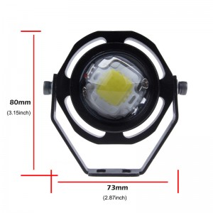 Waterproof 10W Car LED Eagle Eye Light Daytime Running Light DRL Hawkeye Warning Fog Lamp Warm White/Cool White  12-32V