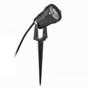 LemonBest-US Plug 3*3W LED Lawn Garden Flood Light Yard Patio Path Spotlight Lamp with spike Waterproof Warm White/ Green AC 85-265V