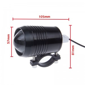 30W 1500LM U2 LED Motorcycle Driving Fog Headlight Spot Light Headlamp for Car Boat Truck Ship