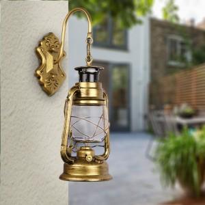 Antique Vintage Edison Oil Lamp Barn Lantern Wall Light E27 Socket AC 110-220V (No Bulb Included)