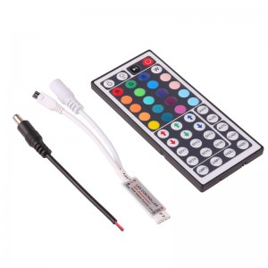 44 Key Wireless IR Remote Switch Controller Dimmer Set for RGB SMD LED Light Strips DC 12V