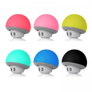 Wireless Mini Mushroom Bluetooth Speaker Silicon Suction Handfree Holder Music Player for iPhone 5s SE 6 6s Samsung LG