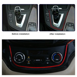5M/16.4ft Car Interior Decorative Thread Strip Insert Type for Air Outlet Dashboard Door Decoration Accessories