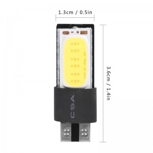 LemponBest-2pcs 5W T10 LED COB Parking Lamp Car Light No Canbus Error Free White Bulb DC 12V Styling External Lights