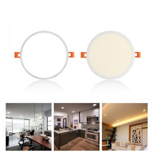 8W/16W/22W Round Concealed LED Panel Light Ceiling Lamp Downlight Slim Narrow Frame Large Luminous Area Integrated Driver AC 85-265V