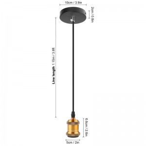 E27 Vintage Loft Copper Pendant Lamp Adjustable Celling Light Edison Lighting Holder