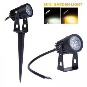 LemonBest-3W LED Mini Lawn Garden Flood Light Yard Patio Path Spotlight Lamp Waterproof