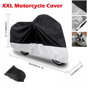 LemonBest-265*105*125cm Waterproof Dustproof Motorcycle Rain Dust Protector Cover   Protection for Electric vehicle