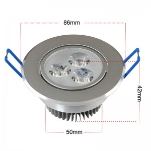 LemonBest -   9W LED Ceiling Light Recessed Spotlight Downlight Warm White  100-245V