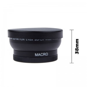 LemonBest - HD 52MM 0.45x Wide Angle Lens with Macro Lens for Canon Nikon Sony Pentax Minolta Pansonic 52MM DSLR Camera