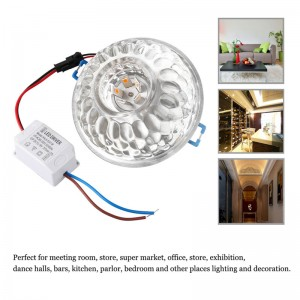 5W SMD5730 Semicircle LED Ceiling Light Modern Crystal Lamp Spotlight Downlight AC 85-265V