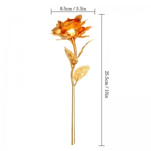 Valentine's Day/ Anniversary / Birthday Day/ Mother's Day Gift 24K Gold Plated Rose Flower