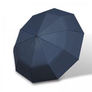 Automatic Umbrella 10-Rib Strong Windproof Super Wide 46inch Outdoor Travel Umbrella Auto Open and Close