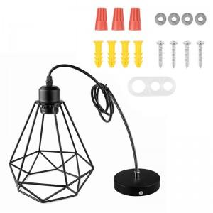 Industrial Vintage Diamond Cage Pendant Light Sconce Hanging Droplight Lamp E27 Socket AC 85-240V