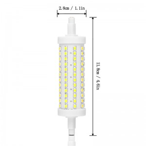 360° Beam 118mm R7S 2835SMD 10W 108LED Horizontal Plug Lights Dimmable Flood Light Corn Lamp Bulb Warm White/Cool White AC 85-265V