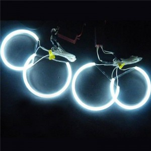 LemonBest-4 pcs 131mm CCFL Car Angel Eagle Eyes Light Tube Headlight White Headlamp for BMW E36 3 E38 7 E39 5 E46 (131*4)