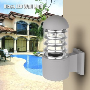 Waterproof Aluminum Glass Lampshade LED Wall Light Fixtures IP65 Wall Lamp Outdoor E27 Socket AC 85-240V