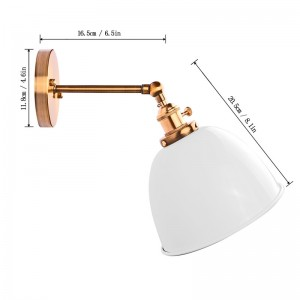 Modern Vintage Bowl Wall Light Sconce Bell Shape Loft Lamp Fixtures E27 Socket with Switch