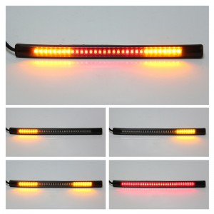 Universal Flexible 48-LED Motorcycle Light Strip Tail Brake Stop Turn Signal Lights License Plate Light 8