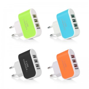 US/ EU plug 3.1A Universal Wall Charger Travel Adapter 3 USB Ports for iPhone Samsung