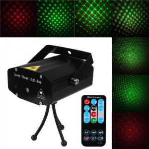 LemonBest-(Black)Mini DJ Club Disco Projector Stage Laser Light Green Red Voice   Control Function with Remote