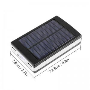 Lemonbest-Multi-function Universal 10000MAH Solar Power Bank Charger + LED Camping   Light + UV Light Money Detect