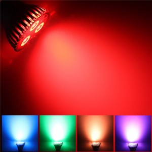 10W PAR20 E27 RGB LED Bulb Stage Lamp Light 16 Colors Remote Control Flash Strobe AC 85-265V