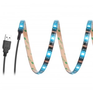 USB RGB/Warm/Cool White SMD 5050 LED Strip Light Waterproof String Lamp 2m/1m/0.5m