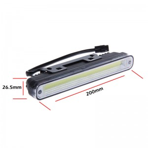 2pcs Universal Waterproof COB LED Daytime Running Light DRL Guiding Fog Driving Lamp for Cars White 12V