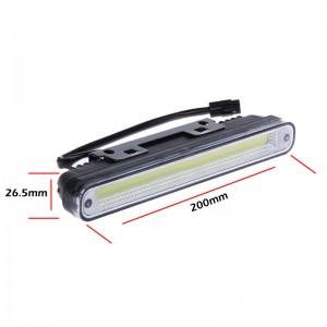 2pcs Universal Waterproof COB LED Daytime Running Light DRL Guiding Fog Driving Lamp for Cars White 12V
