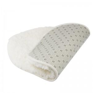 LemonBest-(White)Bathroom Shaggy Rug Antiskid Bath Mat Floor Shower Bedroom Carpet Floor Footcloth