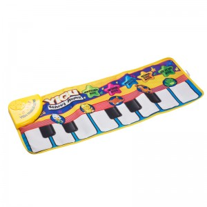 LemonBest-Baby Music Play Carpet Mat Piano Keyboard Toys for 0-3 Years Kids Animal Voice Mats 72*28cm