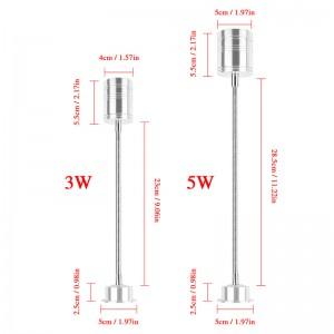 LemonBest-3W Flexible Pipe LED Bulb Spotlight Lamp with tube Warm/ Cool  White AC/DC 12V