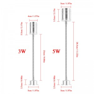 LemonBest-5W Flexible Pipe LED Bulb Spotlight Lamp with tube Warm White AC/DC 12V