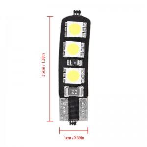 LemonBest-10pcs T10 194 168 5050 6SMD LED Car Bulbs Side Wedge Light Dome Lamp Error Free Decoded Cool White 12V