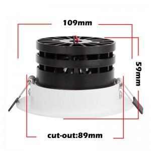 LemonBest-7W LED COB Ceiling Light Recessed Spotlight Downlight Warm White/Cool White AC 100-245V