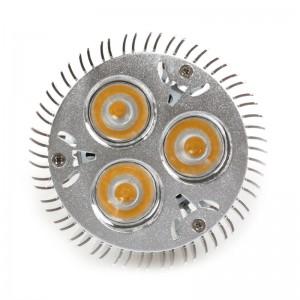 LemonBest - Dimmable 3*3W E27 PAR20 LED Bulb Small Spotlight Lamp Warm White