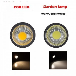 LemonBest-Waterproof 3W/5W COB LED Lawn Garden Flood Light Yard Patio Path Spotlight Lamp with Spike