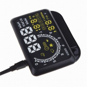 LemonBest-5.5inch Car HUD Head Up Display OBD2 OBDII Interface Plug/Play KM/h MPH Speeding Warning