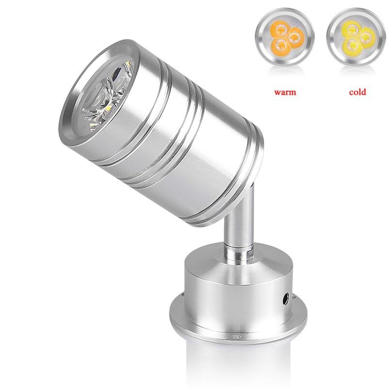 LemonBest-3W 360 Degree Rotary LED Light Bulb Spotlight Lamp with Moving Head Cool/ Warm White AC/DC 12V