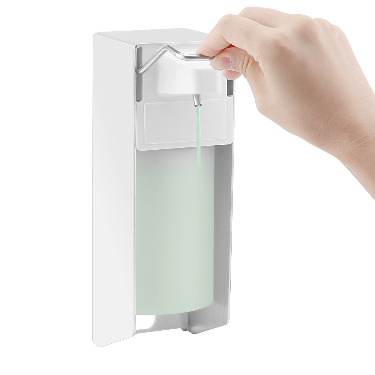 Lemonbest  500ML Soap Dispenser, ABEDOE Wall-Mounted Soap Lotion Pump Manual Type for Kitchen and Bathroom