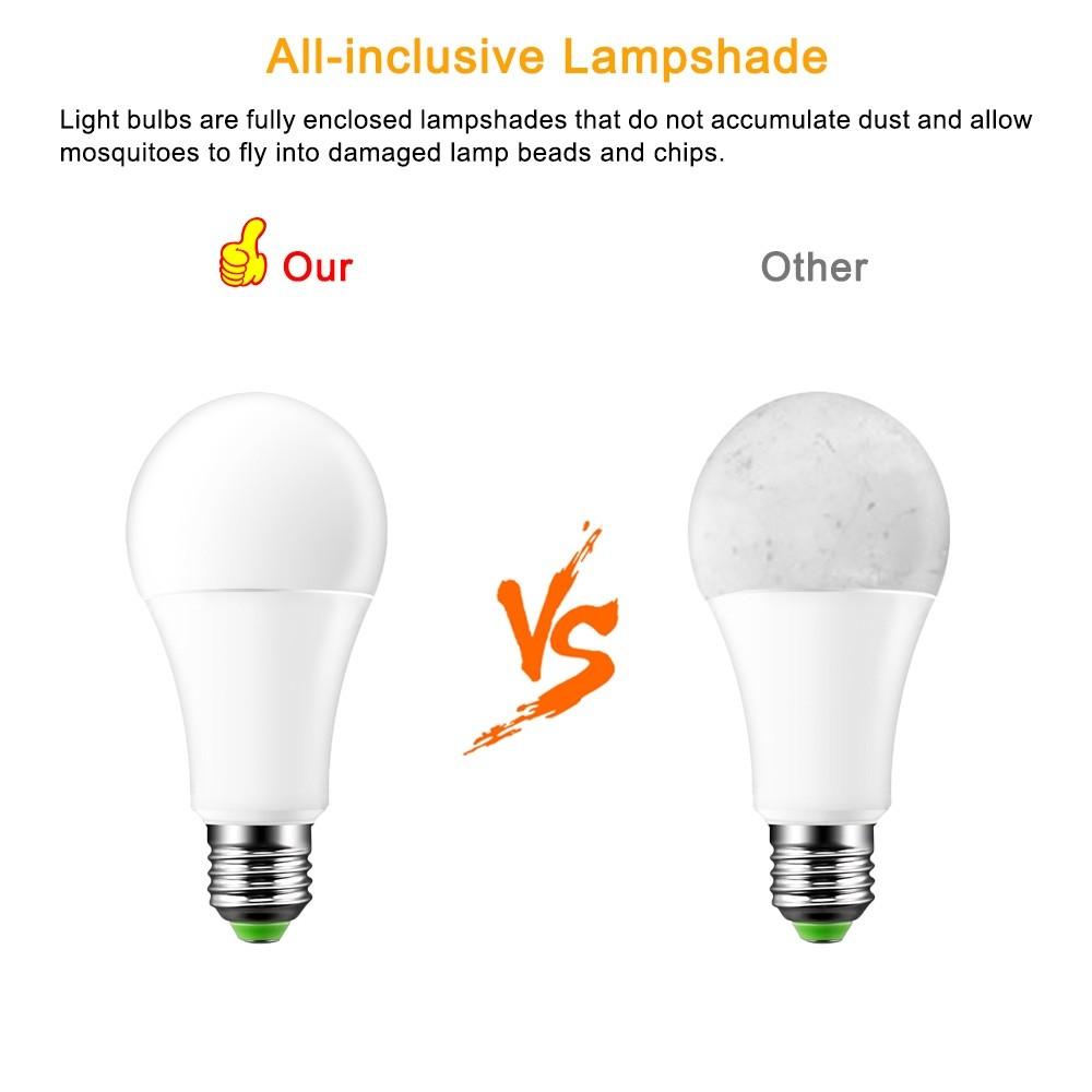 Lemonbest 15W RGBW LED Bulb E27 Color Changing Atmosphere Lighting LED Lamp Flash Strobe Fade Mode Bar KTV Decorative Lights